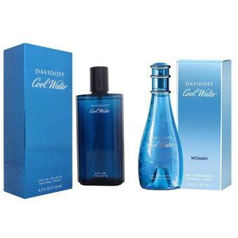 Harga Davidoff Cool Water For Men EDT 125ml. + Davidoff Cool Water For women EDT 100ml.
