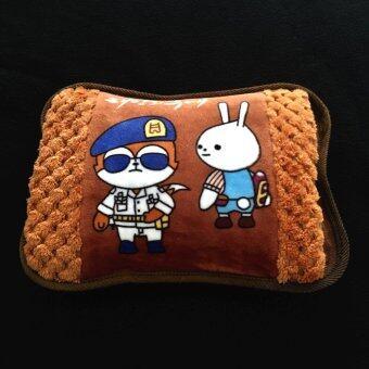 กระเป๋าน้ำร้อนไฟฟ้า/ Heating Bag ขนาดพกพา สีน้ำตาล_Model05