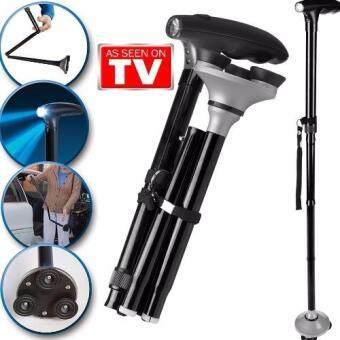 As Seen On TV Trusty Cane ไม้เท้าช่วยเดิน ไม้เท้าช่วยพยุง พร้อมไฟ LED ส่องสว่าง (สีดำ)