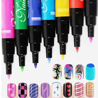 ชุด 12ชิ้นทาเล็บปากกาสำหรับยูวีเจลทาเล็บแต่งแต้มภาพวาดฝีมือด้วยชุดเครื่องมือเจาะลึก