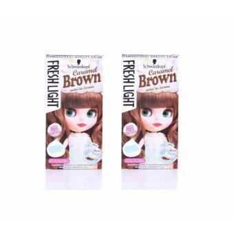 Schwarzkopf Freshlight Foam color - Caramel Brown 95ml โฟมย้อมสีผมสีน้ำตาลอ่อนคาราเมล(แพ็คคู่)