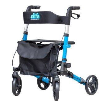 Elife รถเข็นช่วยเดิน Rollator 3in1 เดิน/นั่ง/ใส่ของ นน.เบาพิเศษ พับง่าย