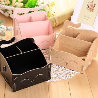 DIY Wooden Cosmetic Box (WD02 สีน้ำตาลอ่อน) กล่องเก็บเครื่องสำอาง เครื่องประดับ