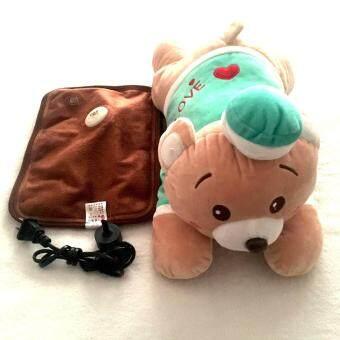 กระเป๋าน้ำร้อนไฟฟ้า รุ่นตุ๊กตาหมีตัวใหญ่ สีเขียว พร้อมอุปกรณ์ครบเซ็ต _Model14