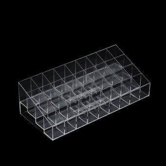 Allwin ความโปร่งใส 36 วางเครื่องสำอางลิปสติกมาสคาร่าตารางนัดหมายแสดงผลชั้น