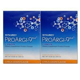 SYNERGY Proargi-9 plus โปร์อาร์จิไนน์ พลัส ผลิตภัณฑ์ขับล้างสารพิษ ชนิดกล่องบรรจุ 30 ซอง 2 กล่อง