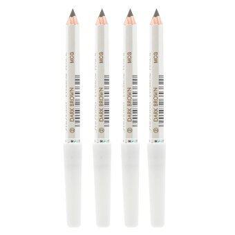 Shiseido Eyebrow Pencil No.คิ้วคุณภาพดี เขียนง่าย ดูเป็นธรรมชาติ #2 Dark Brown (4 แท่ง)