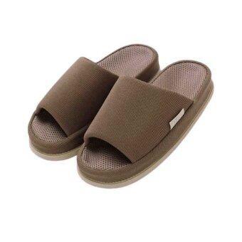 Refre OKUMURA Slippers รองเท้านวดเพื่อสุขภาพ รองเท้าเพื่อสุขภาพ รองเท้าใส่ในบ้าน สีน้ำตาลเข้ม(Size L)
