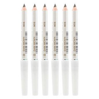 Shiseido Eyebrow Pencil No.คิ้วคุณภาพดี เขียนง่าย ดูเป็นธรรมชาติ #2 Dark Brown (6 แท่ง)