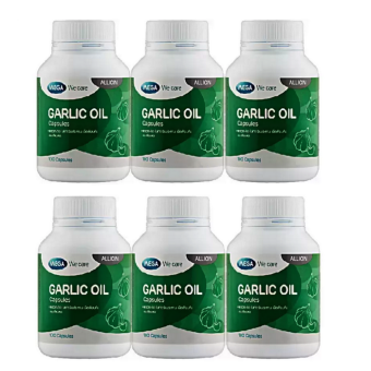 Mega We Care Garlic Oil น้ำมันกระเทียม ลดโคเลสเตอรอล (100แคปซูล) * 6 กระปุก