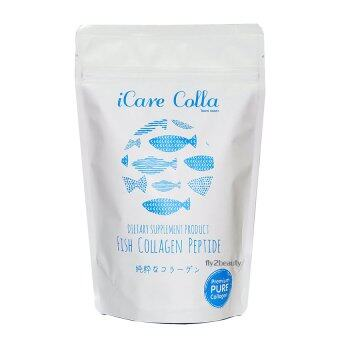 iCare Colla Fish Collagen Peptide ไอแคร์ คอลล่า คอลลาเจนที่ดีที่สุด จากญี่ปุ่น เพื่อผิวขาว เนียนใส ไร้ริ้วรอย ขนาด 100 กรัม (1 ซอง)