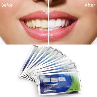 Advance teeth whiteningแผ่นฟอกฟันขาว ฟอกสีฟัน ทำด้วยตนเอง 1กล่อง (14ซอง28ชิ้น)