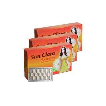Sun Clara กล่องส้ม สูตรดั้งเดิม (30 แคปซูล x 3 กล่อง)