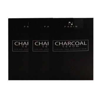CHARCOAL SERUM BY PARIN ชาโคล เซรั่มบำรุงผมชนิดล้างออก 15ml (3 กล่อง)(...)