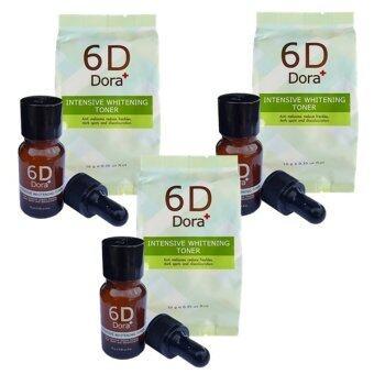 6D Dora+ Intensive Whitening Toner (6D Dora+ โทนเนอร์สลายฝ้า กระ) 3 ขวด