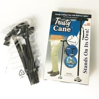 Trusty Cane ไม้เท้าพับได้ ปรับสูงต่ำได้สำหรับผู้สูงอายุ