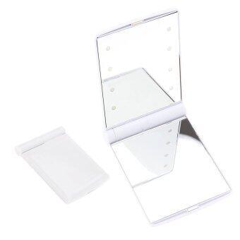 Elit กระจกแบบพกพา ไฟ LED สุดอเนกประสงค์ Compact Cosmetic Mirror (White)