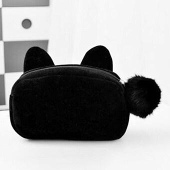 กระเป๋าแต่งหน้าเสริมสวยเคสสีดำ - Intl