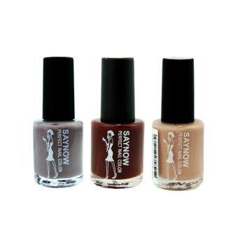 Saynow Girls Princess Nail Color (Matte) ยาทาเล็บ (Set 8) 3 ขวด 13 ml.
