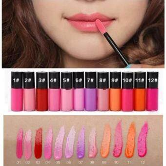 Liquid Lip Gloss ลิปกลอส 1 เซท 12 สี สีหวานสุด ๆ