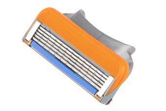 คมมีดโกนหนวดหมึกเติมคน 5 ชั้นสำหรับ Gillette Fusion ชุด 8 (หลายสี)