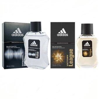Adidas Victory League For men 100ml. +Adidas Dynamic Pulse Cologne for Men 100 ml พร้อมกล่อง