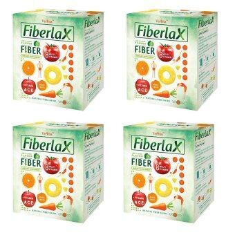 Verena Fiberlax (ไฟเบอร์แล็กซ์) ผลิตภัณฑ์เสริมอาหารล้างสารพิษในลำไส้ กระตุ้นระบบขับถ่าย (10 ซอง) x4 กล่อง