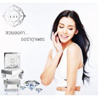 LIV White Diamond ครีม by วิกกี้ สุนิสา เจทท์ ครีมหน้าขาว ใส ไร้สิว สกัดจาก เพชรแท้ ชะลอ และลดการเกิดริ้วรอย จุดด่างดำบนใบหน้า ฟื้นฟูผิวได้อย่างล้ำลึก ลดความหมองคล้ำ ผิวเรียบเนียน ใส 1 กระปุก บรรจุ 30g. 2 ชิ้น
