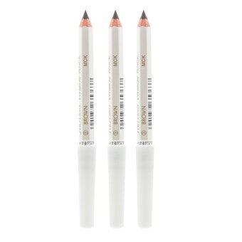 Shiseido Eyebrow Pencil No.ดินสอเขียนคิ้วคุณภาพดี เขียนง่าย ดูเป็นธรรมชาติ #3 Brown (3 แท่ง)