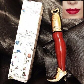 ลิปกลอสเนื้อแมทลิขวิดดีไซน์หรูสีน้ำตาลแดงเข้มหรูหราไฮโซ Les Merveilleuses Laduree Lip Gloss08