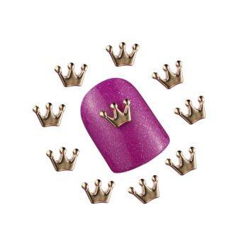 แฟชั่นรูปมงกุฎโบว์คริสตัลสำหรับแต่งนิ้วมือเล็บ (NO 6)