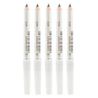 Shiseido Eyebrow Pencil No.คิ้วคุณภาพดี เขียนง่าย ดูเป็นธรรมชาติ #2 Dark Brown (5 แท่ง)