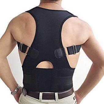 ideecraft back brace posture เสื้อพยุงหลัง เสริมหลังตรง (สีดำ) size XXL