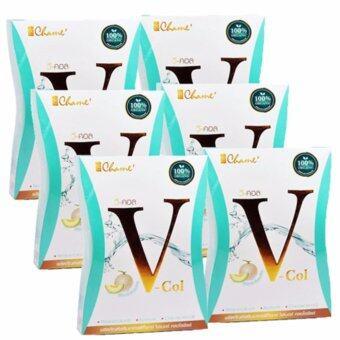 Chame' V Col Detox อาหารเสริมดีท็อกซ์ บรรจุ 7 ซอง/กล่อง (6 กล่อง)