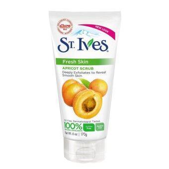 ST. Ives Apricot Scrub Fresh Skin Apricot Scrub Invigoration สครับผิวหน้า 170g (1 หลอด)