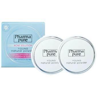 PharmaPure Acne Solution Young Natural Powder แป้งป้องกันสิว 11.5g. (2กล่อง)
