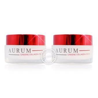 ครีม อั้ม พัชราภา Aurum Ginseng Collagen Cream ครีมออรั่ม ครีมบำรุง ครีมโสม ครีมอั้ม 50g. (2กล่อง)