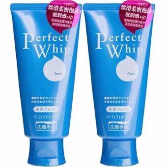 Shiseido Senka Perfect Whip Foam โฟมล้างหน้าเนื้อวิปครีม 120g. (2 หลอด)