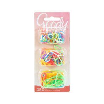 Goody ยางรัดผม Girls Ouchless Multisize Polyband Elastics 250 ชิ้น