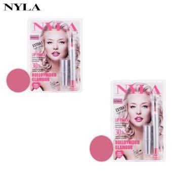 ลิปสติก NYLA Lip Crayon Pencil สี Soft Mauve ( 2 ชิ้น)