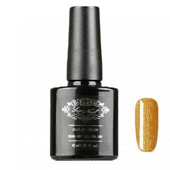 Sugar nail สีทาเล็บชนิดเจล UV/LED ขนาด 10 ml (สีทองกากเพชร #90 GLITTER GOLD)