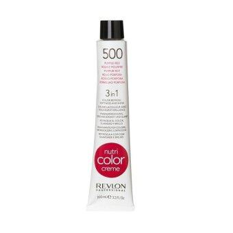 Revlon Nutri color crème ครีมเคลือบและบำรุงเส้นผมแบบหลอด เบอร์ 500 สีแดงอมม่วงสด (100ml)