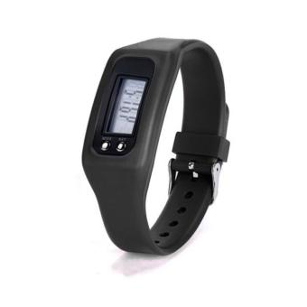 HAZU นาฬิกานับก้าวเดิน HAZU W2 วัดแคลอรี่ วัดระยะทางกิโลเมตร เครื่องนับก้าว (สีดำ) DigitalLCD Pedometer Run-Step Walking Distance Calorie Counter