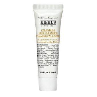 Kiehl's Calendula Deep Cleansing Foaming Face Wash ผลิตภัณฑ์ล้างหน้าสูตรอ่อนโยน 30ml (1 หลอด)
