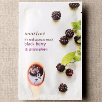 Innisfree It's Real Squeeze Mask #Black Berry 20ml (set of 3)