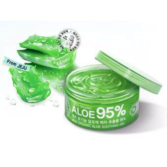 Jeju Organic Aloe95% Soothing Gel เจลว่านหางจระเข้ 95%300ml. (1 กระปุก )