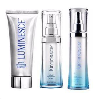 Jeunesse Luminesce Youth Restoring Cleanser (1 หลอด) + Luminesce cellular rejuvenation serum (1 ขวด) + Daily Moisturizing Complex (1 ขวด)