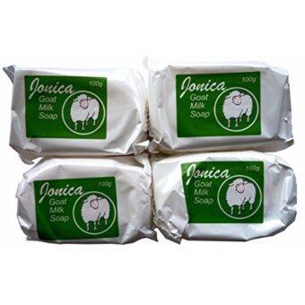 สบู่ Jonica Goat Milk Soap สบู่นมแพะโจนิก้า 100 กรัม จัดเซตแพ็ค (สุดคุ้ม!! 4 ก้อน)