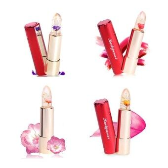 Kailijumei Flower Jelly Lipstick Set เซ็ต 4 สี ( Flame RedBarbie Doll PowderMinutemaidDream Purple)