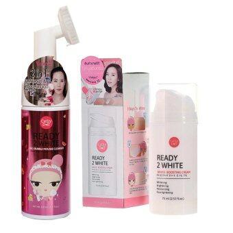 เปรียบเทียบราคา karmart 2in1 Bubble Mousse Cleanser 120ml Cathy Doll Ready 2 White +White Boosting Cream 75ml.